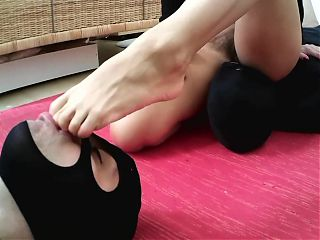 princess nicole dominate slaves with ass and feet