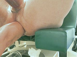 Analpump, cock pump, fisting, massive vibrator sunk in ass