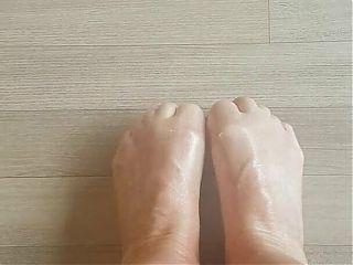 Looking down on my feet