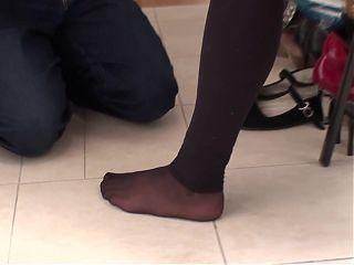 stinky feet smelling femdom