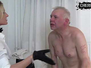 Face slapping spitting female dominatrix