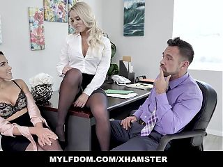 MYLFDom - Amateur Teen and Milf Pounded By Huge DIck