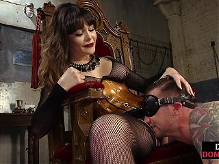 Busty femdom dominates with pussy and pegging