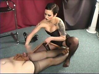 Jennifer and her Nylon Slave, Captive Cocks