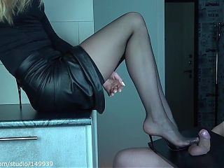 limp little dick crush by High heels