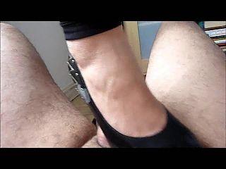 Heel fuck peehole
