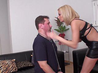 cruel lady Isa face slapping whipping guy Joschi